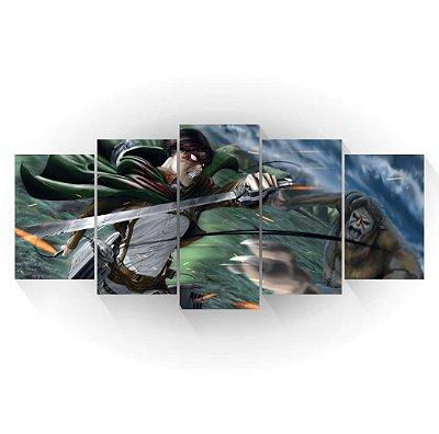 Levi Vs Titan Bestial - Shingeki no Kyojin - Mosaico
