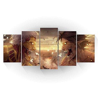 Titan de Ataque Vs Titan Blindado - Shingeki no Kyojin - Mosaico
