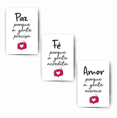 Kit Paz / Fé / Amor