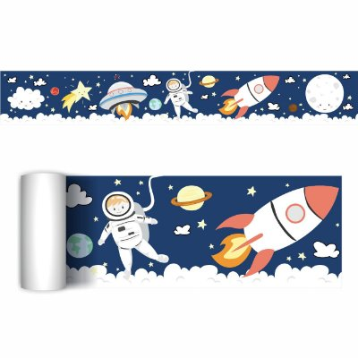 Faixa Decorativa Quarto Astronauta