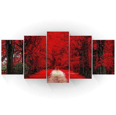 Mosaico Árvores Vermelhas