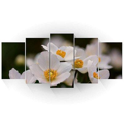 Mosaico Flor Anêmona Branca