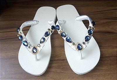 Havaiana Cristal Azul