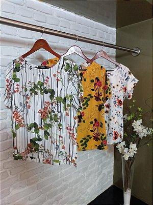 Blusa Viscose Estampa Floral