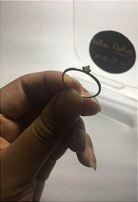 Solitário com zircônia - Prata 950