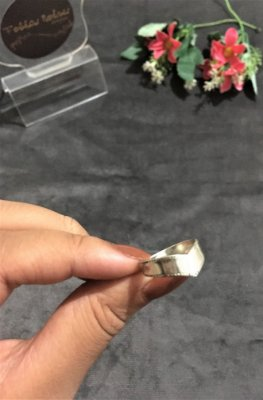 Anel Médio com Formato de Tiara - Prata 950