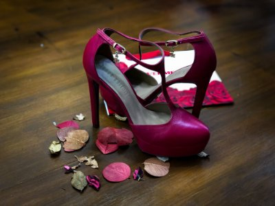 Sapato Salto Lança Perfume Vermelho