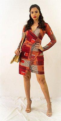 Vestido Morena Rosa Curto Decote