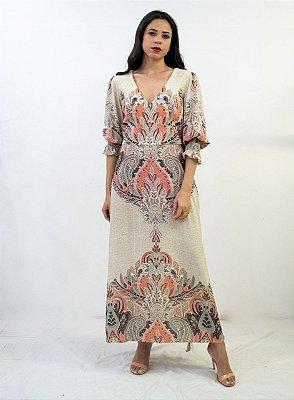 Vestido Thamara Capelao longo Estampado
