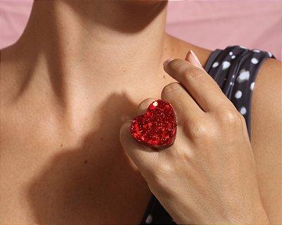 Anel Coração - Red
