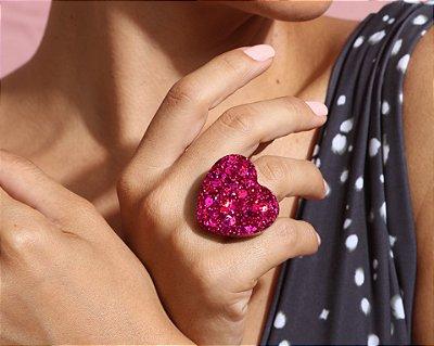 Anel Coração - Pink