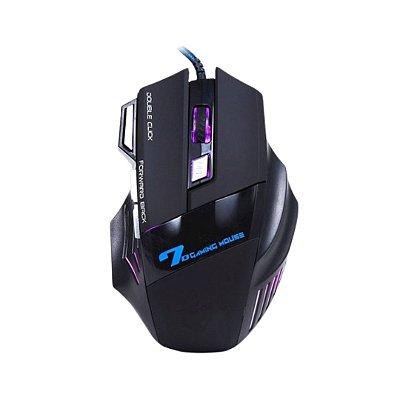 Mouse gamer x7 com fio e duplo clique