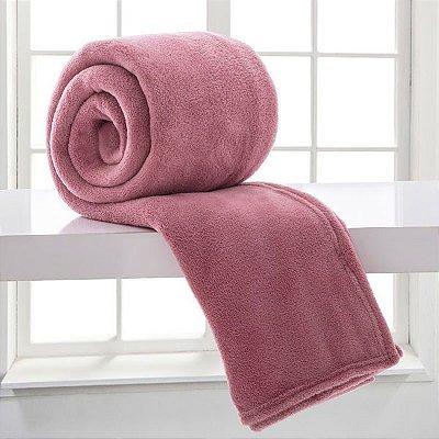 Cobertor Microfibra Casal - Rosa - Bari