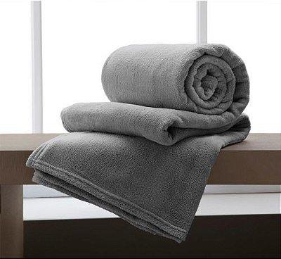 Cobertor Microfibra Casal - Cinza - Bari