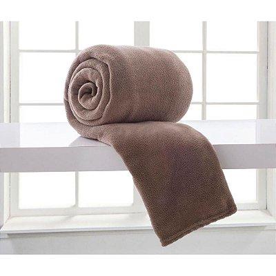 Cobertor Microfibra Casal - Marrom - Bari