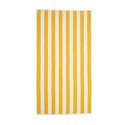 Toalha Gigante para Praia e Piscina Listrada Stripes - Amarela - Santista