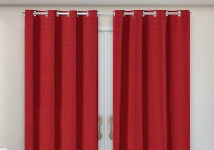 Cortina Rústica Longa - Vermelho - Ylos 3,00 x 2,60