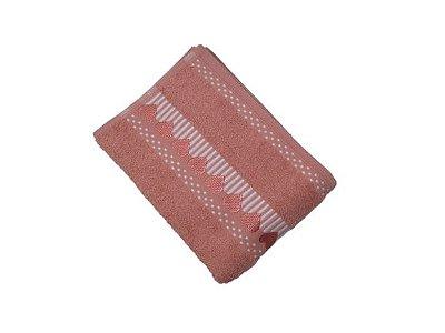 Toalha de Rosto Amare - Salmão - Olinda Têxtil