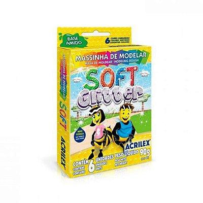 Massinha de Modelar Soft Glitter c/6 90g ACRILEX