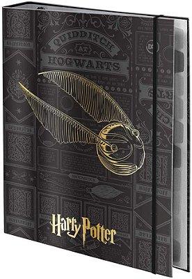 Caderno Argolado Universitário. 48 Folhas Harry Potter - Fechamento Em Elástico