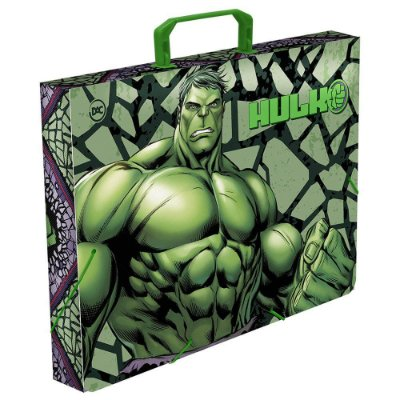Maleta Ofício com elástico Avengers Hulk - 2793 DAC