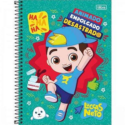 Caderno Espiral Capa Dura Universitário 1 Matéria Luccas Neto 80 F