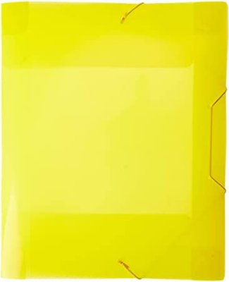 Pasta Plástica com Lombo 4 Cm - 332mm232mm  - Textura Ondulada - Amarela - DAC