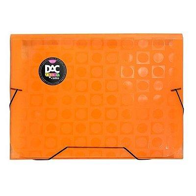 Pasta Sanfonada A4 Com 12 Divisões Laranja Dac Color Bubble 325mmX230mm