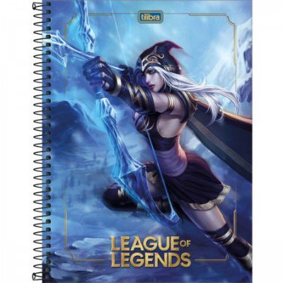 CADERNO ESPIRAL CAPA DURA UNIVERSITÁRIO 10 MATÉRIAS LEAGUE OF LEGENDS 160 FOLHAS