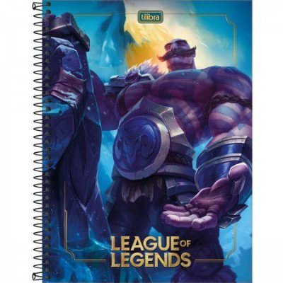 CADERNO ESPIRAL CAPA DURA UNIVERSITÁRIO LEAGUE OF LEGENDS 80 FOLHAS