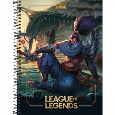 Caderno Universitário Capa Dura 80 FL League of Legends