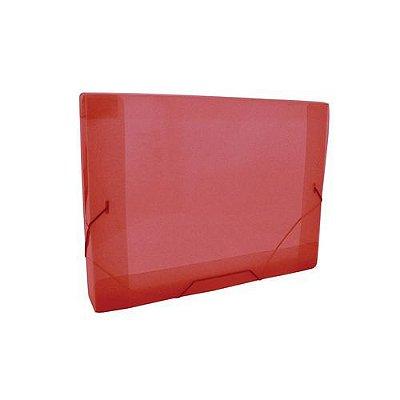 Pasta Aba Elástico Mini 2cm Dac Vermelha Transparente 183mmX245mm