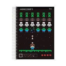 Caderno Minecraft c/ 10 Matérias - Capa Dura - Game