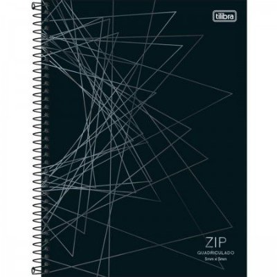 Caderno Espiral Univ. Quadriculado Capa Dura 5x5mm 96 Fls Zip 01 - Tilibra
