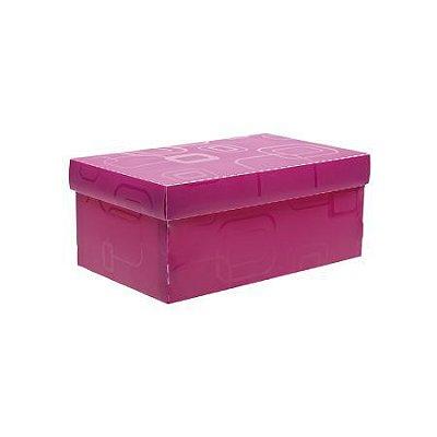 Caixa organizadora mini sapato - rosa claro - 2169.Q - Dello