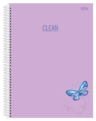 Caderno Universitário Capa Dura Clean 10 Matéria 200 Folhas São Domingos