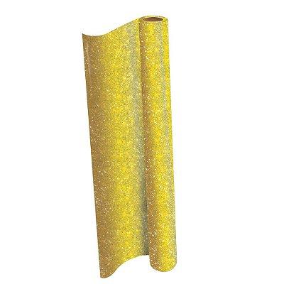 Plástico Adesivo Contact Cor Glitter dourad 45cm X 10m - Dac