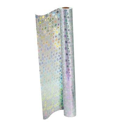 Plástico Adesivo Holográfico Estrela DAC 45cmX10m REF 1706CL