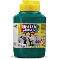 Tinta Guache Verde Bandeira Acrilex 250ml