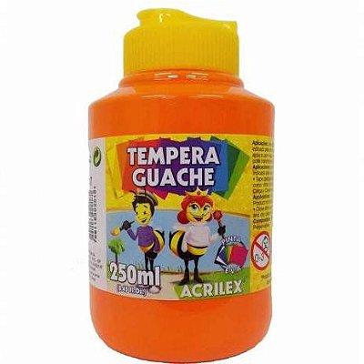Tinta Guache 250ml Laranja Acrilex