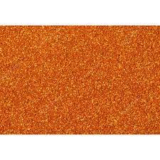 EVA com Glitter 40x60 cm - 2mm -  BRW - Pacote com 5 Unidades Laranja