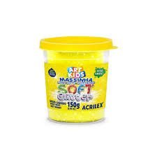 Massa P/modelar Soft Glitter 150g Amarelo 212 / Un / Acrilex