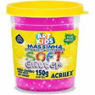 Massa P/modelar Soft Glitter 150g  maravilha 226/ Un / Acrilex