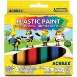 Tinta plástica Plastic Paint 6 cores 20ml - Acrilex