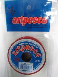 Linha Nylon de Pesca Artpesca - 100m - Branca - 0,35mm