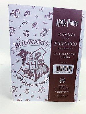 Folha Fichário Universitário 96 Folhas 4 Furos Harry Potter