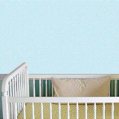 Contact  Poá Azul Bebe Adesivo Lavável Rolo 45CM X10M