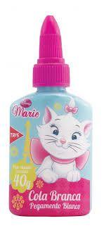 Cola branca 40g gatinha marie Com lacre protetor; Mais durável; ideal para papéis; cartões e cartolinas; Linha escolar