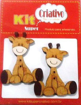 Botões Divertidos Kit Super Criativo Girafa Jumbo PT c/ 02 Unidades