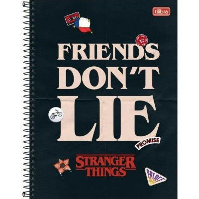Caderno Univ 1x1 80f CD 294136 Stranger Things Tilibra